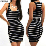 Long Short sleeve autumn Striped Bandage Dress