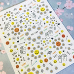 paper clip Smiley face 3d nail art sticker nail decal stamping export japan designs rhinestones  decorations