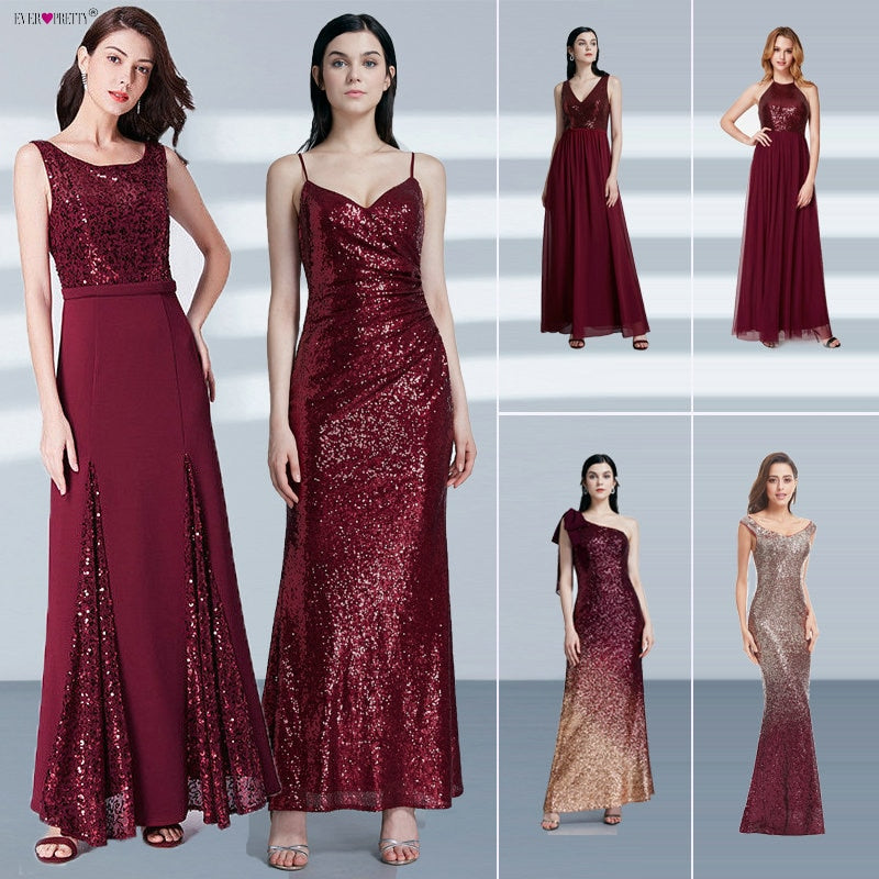 Burgundy Red Sexy Evening Dresses