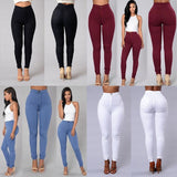 Women Denim Skinny Jeggings Pants High Waist Stretch Jeans