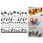 nail art stickers Manicure Palm Ocean Wind Tropical