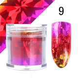 1 Roll Gradient Starry Nail Foil Paper Red Pink Gold