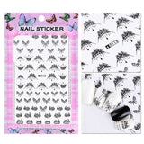 1 Sheet Embossed 3D Nail Stickers Designs 2019