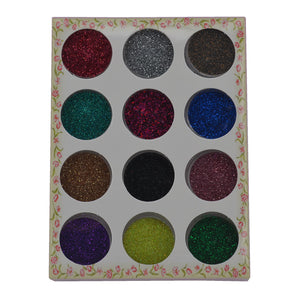 Beauty 12 Color/ Set Metal Glitter Nail