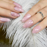 24pcs/Pack STILETTO Off-white False Nails 2019