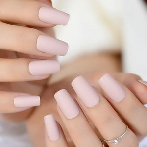 51 Designs Soft Pink Purple Matte False Nails