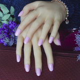 24pcs/set fashion candy short oval false nails
