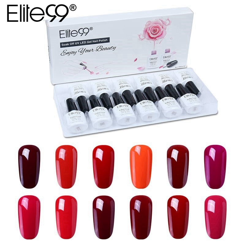 12 Pieces Pure Color Nail Gel Gift Box 2019