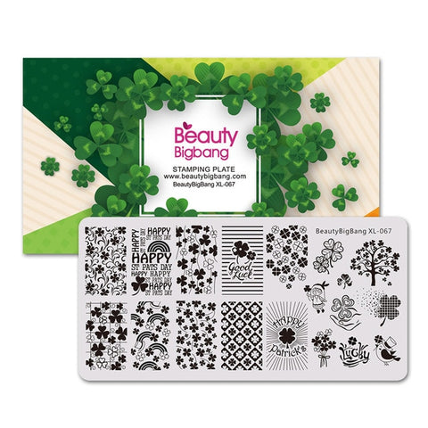 Stamping for nails St. Patrick's Day Four-leaf clover Theme Nail stamping
