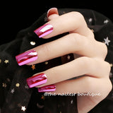 24Pcs Black Red Gradient Oval Fake Nails