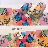 1 Sheet Cartoon Horse & Blue Flower/Triangle