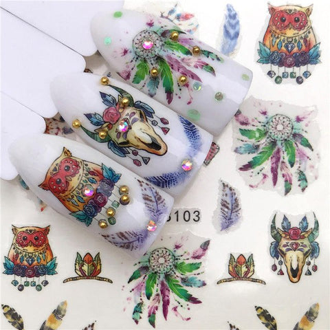 2019 New Arrivial Nail Stickers Water Decal Animal / Flamingo / Flower