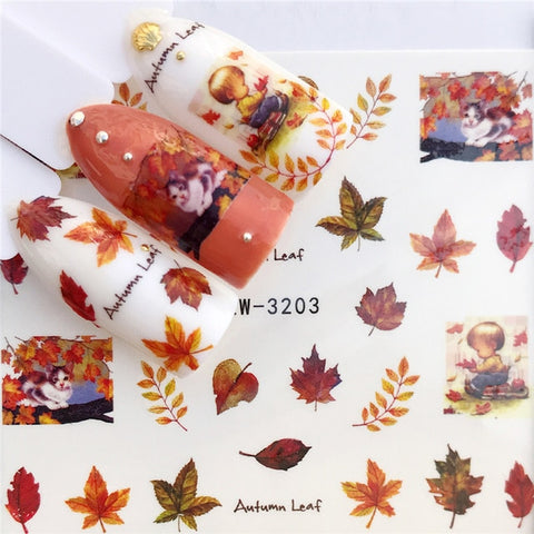 1 PC 2019 New Arrivial Nail Sticker Water Decals Bell / Plum / Sheep / Flower