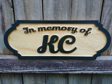 Load image into Gallery viewer, Solid Pine Pet Memorial Name Plaque