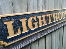 Load image into Gallery viewer, All Weather Wooden Business Name sign, Outdoor Quarter Board wood sign