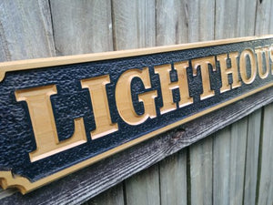 All Weather Wooden Business Name sign, Outdoor Quarter Board wood sign