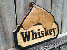 Load image into Gallery viewer, Personalized 3D Horse Stall Name Sign, Custom Horse Tack, 3D Wood Carved Barn Stable Plaque