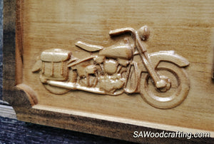 Custom Harley Motorcycle Biker Wedding Gift