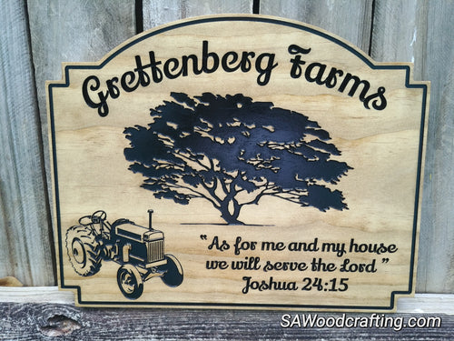 Religious Family Farm Wedding Gift