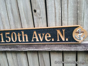 All Weather Nautical Home Address sign