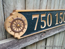 Load image into Gallery viewer, All Weather Nautical Home Address sign