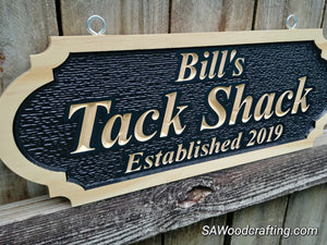 Horse Tack room Feed room Barn Owner Name sign