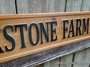 3D Wood Horse Driveway Entrance Sign