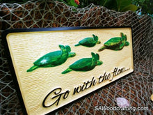 Load image into Gallery viewer, Nautical Tiki Bar sign with Sea Turtles