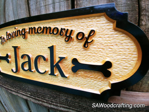 Personalized Pet Memorial Sign
