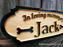 Load image into Gallery viewer, Personalized Pet Memorial Sign