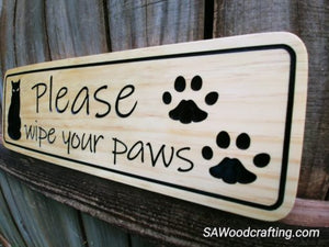 Cat Lovers Custom Wood Pet Sign