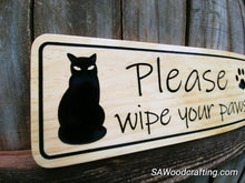 Load image into Gallery viewer, Custom Wood Pet Sign with Cats, Cat Lovers gift sign