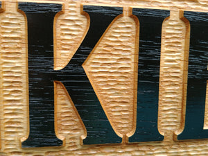 Custom Made Solid Oak Stall sign