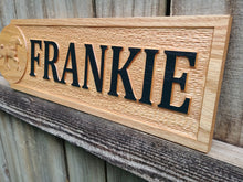 Load image into Gallery viewer, Custom Made Solid Oak Stall sign