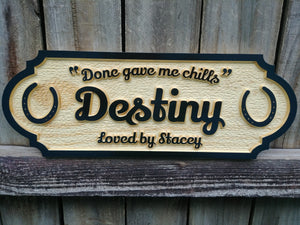 Personalized Horse Stall Sign