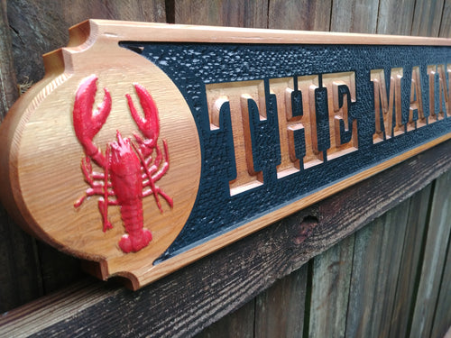 Nautical Quarter Board with Lobsters