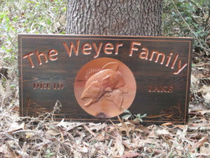 Personalized Outdoor Solid Cedar Lake House Sign
