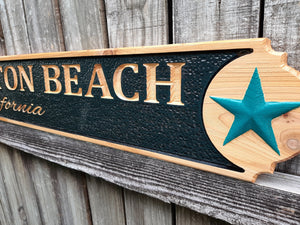 4 foot Tropical Quarter Board Cedar wood sign