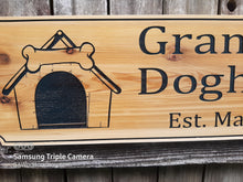 Load image into Gallery viewer, Custom Cedar All Weather Personalized Name plaque, Dog House Name sign