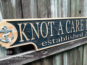 Custom 3D wood carved Nautical Quarter Board Vessel sign