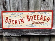 Load image into Gallery viewer, Western style wooden Saloon business name sign