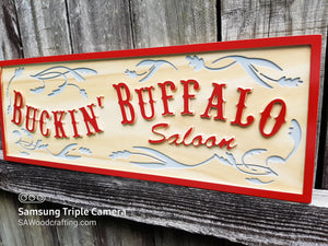 Custom wooden Saloon Bar sign