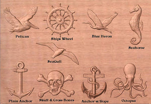 Personalized Nautical Quarter Board with Pirates
