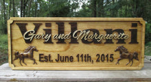 Load image into Gallery viewer, 3D Horse Wedding Gift Sign