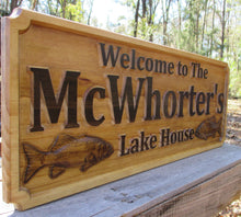 Load image into Gallery viewer, Custom Lake House Name Sign