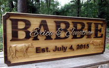 Load image into Gallery viewer, Farmer Ranch Family 50th Anniversary Name Sign