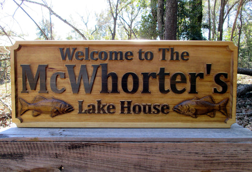 Custom Lake House Name Sign