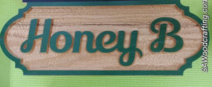 Personalized Custom Barn color Painted Solid Oak Horse Stall Sign