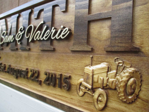 Personalized Farm Family Wedding Anniversary Custom Wood Gift sign
