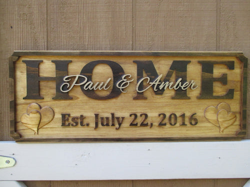 Personalized 3D carved Wedding or Housewarming Gift